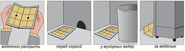 Инструкция по применению клеевой ловушки